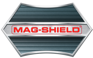 Mag-Shield logo for magnetic filters that prevent hydraulic system failure